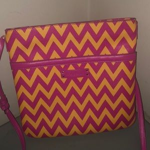 Vera Bradley Coates canvas crossbody chevron pink